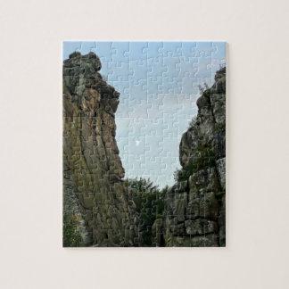 Externsteine in twilight jigsaw puzzle