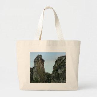 Externsteine in twilight large tote bag