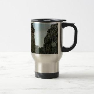 Externsteine in twilight travel mug