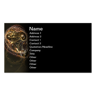 Exterra Fractal Artwork Double-Sided Standard Business Cards (Pack Of 100)