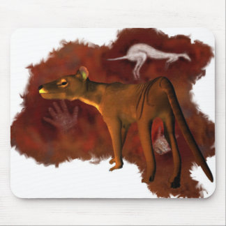 Extinct Forever - Thylacine or Tasmanian tiger Mouse Pad