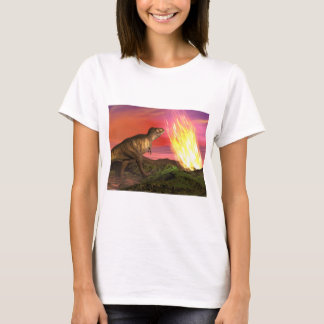 Extinction of dinosaurs - 3D render T-Shirt
