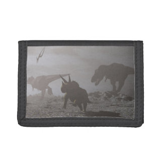 Extinction of dinosaurs - 3D render Tri-fold Wallet