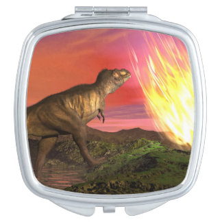 Extinction of dinosaurs - 3D render Vanity Mirror