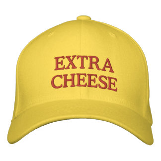 Extra Cheese Embroidered Baseball Caps