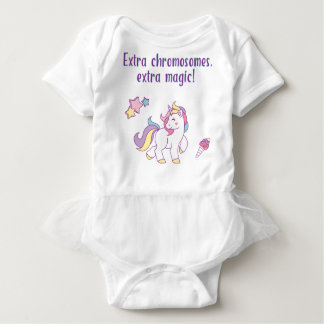 Extra Chromosome Magic Unicorn Baby Bodysuit