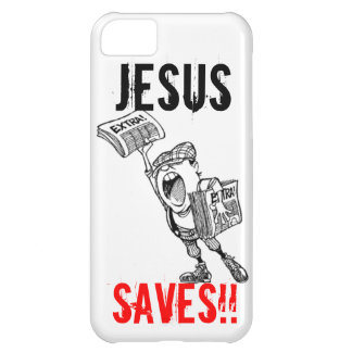 Extra, extra! Jesus Saves!! Cover For iPhone 5C