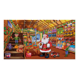 Extra giant poster, Santa Workshop christmas magic Poster