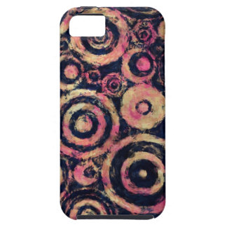 Extra Grungy Pink Circles Case For The iPhone 5