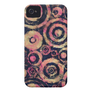 Extra Grungy Pink Circles Case-Mate iPhone 4 Case