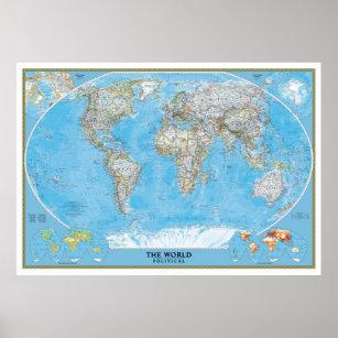 World map posters photo prints zazzle au extra large political world map poster print gumiabroncs Choice Image