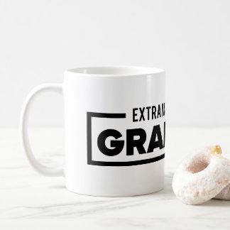 Extra most bestest grandma color black and white coffee mug