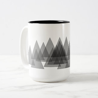 Extra Wide Transparent Forest of Trees! Two-Tone Coffee Mug