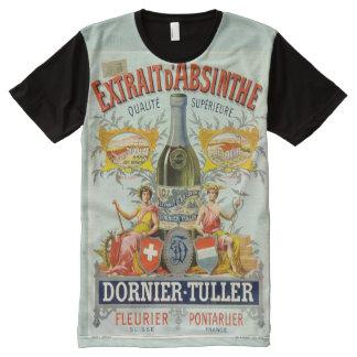 Extrait d'Absinthe Poster Fine Art All-Over Print T-Shirt
