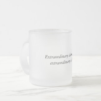 Extraordinary Claims Frosted Glass Mug