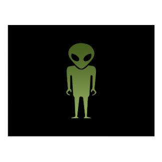 Extraterrestrial Alien Body Postcard