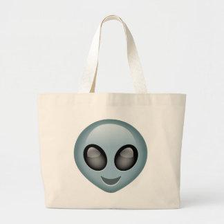 Extraterrestrial Alien Emoji Jumbo Tote Bag
