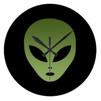 Extraterrestrial Alien Face Wallclocks