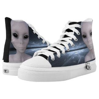 Extraterrestrial Alien High Tops