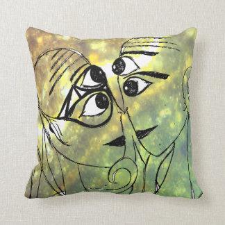 Extraterrestrials In Love Throw Pillow