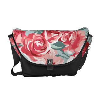 Extravagant blue Flower Pattern Design Commuter Bag
