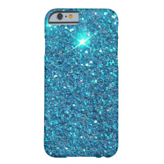 Extravagant Blue Glitter Shine Barely There iPhone 6 Case