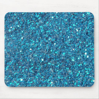 Extravagant Blue Glitter Shine Mouse Pad