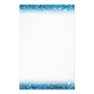 Extravagant Blue Glitter Shine Personalised Stationery