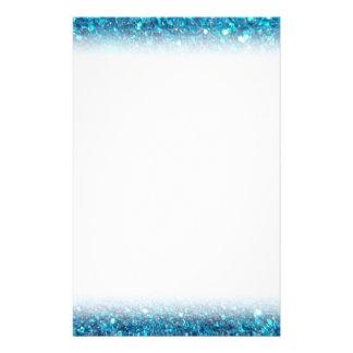 Extravagant Blue Glitter Shine Personalised Stationery