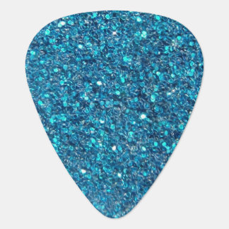Extravagant Blue Glitter Shine Plectrum