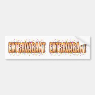 Extravagant Bubble Tag Bumper Sticker