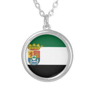Extremadura (Spain) Flag Silver Plated Necklace