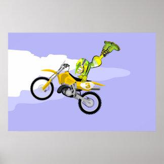 Extreme acrobatics in motocross poster