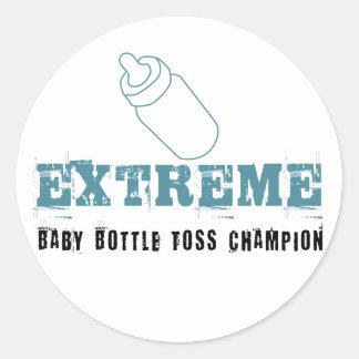 Extreme Baby bottle toss Champion sticker