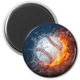 Extreme Baseball 6 Cm Round Magnet