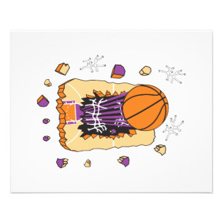 extreme basketball tearing through court 11.5 cm x 14 cm flyer