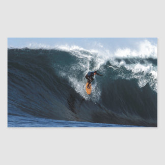 Extreme big wave surfing New Zealand Rectangular Sticker