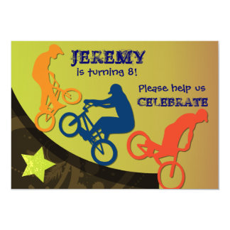 Extreme Biking Custom BIrthday Invitation
