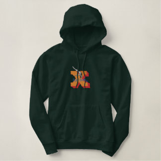 Extreme Cliff Diving Embroidered Hoodie