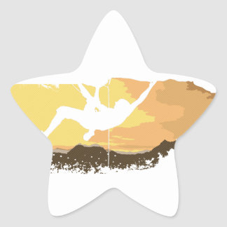 extreme climbing star sticker