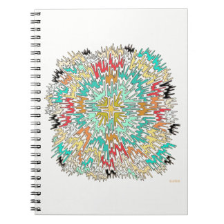 Extreme Color Burst Abstract Notebook