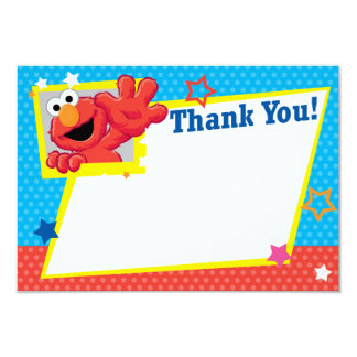 Extreme Elmo Thank You 9 Cm X 13 Cm Invitation Card