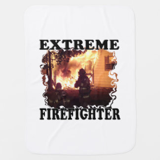 Extreme Firefighter Baby Blanket