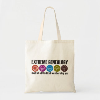 extreme genealogy geneology weather tote bag