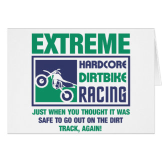 Extreme Hardcore Dirtbike Racing Card