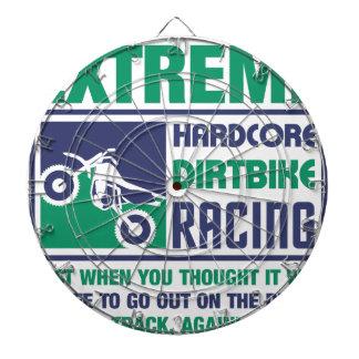 Extreme Hardcore Dirtbike Racing Dartboard