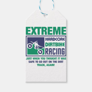 Extreme Hardcore Dirtbike Racing Gift Tags