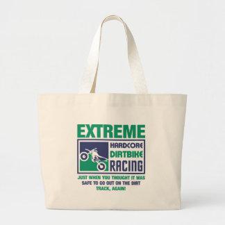 Extreme Hardcore Dirtbike Racing Large Tote Bag