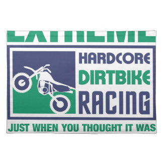 Extreme Hardcore Dirtbike Racing Placemat