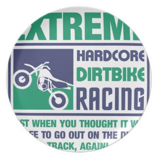 Extreme Hardcore Dirtbike Racing Plate